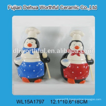 2015 Hot sell ceramic airtight container with spoon
