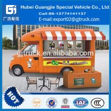China Innovación nueva comida al aire libre Van truck móvil compras alimentos caR para helado opcorn chips snack máquina