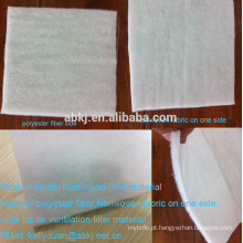 Air filter material with nonwoven fabric on one side