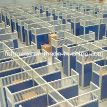 Moderne Glass Call Center Cubicles Meubles de travail