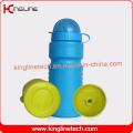 Täglich verwendet Kunststoff Sport Wasserflasche, Kunststoff Sport Flasche, 600ml Sport Wasser Flasche Leichtgewicht (KL-6509)