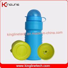 Garrafa de água de plástico de uso diário, garrafa de esportes plástica, garrafa de água 600ml peso leve (KL-6509)