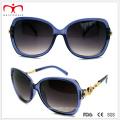 2015 modische Damen-Plastik-Sonnenbrille mit Metall-Dekoration (WSP412415)