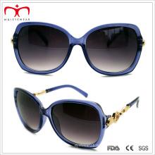 2015 модные женские пластиковые солнцезащитные очки с металлическим украшением (WSP412415)