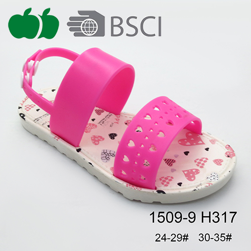 printed girl sandals