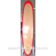 Color rojo carril diseño bambú longboard gran deporte equipo ltd en surf ~