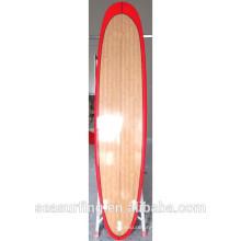 Rouge couleur rail design bambou longboard grand sport équipement ltd sur le surf ~