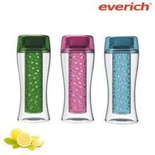 750ml fruit infuser tritan fruit water bottle