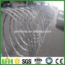 Fuente directa de fábrica galvanizada alambre de afeitar de alambre de afeitar de concertina alambre de púas