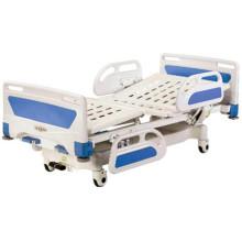 Cama de hospital movible central de bloqueo completo con cabeza de ABS / placa de pie