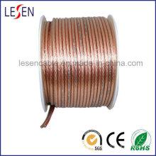 Cable de altavoz Ofc con PVC transparente