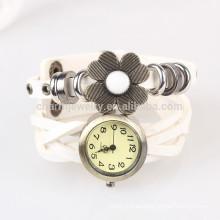 Sen línea femenina trenzada cinturón reloj relojes de girasoles punk retro envuelto reloj pulsera reloj BWL039