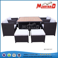 Muebles de patio con PE Wicker