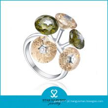 Anéis de casamento turco elegante da forma da flor