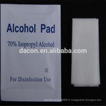 Tampon imbibé d'alcool