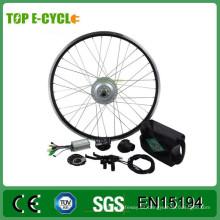 Kit de conversión de bicicleta eléctrica de motor sin escobillas barato 350W con rueda trasera de 20 pulgadas