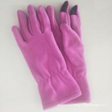 Custom Logo Fleece Gloves Phone Guantes de pantalla táctil