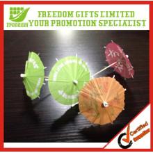 Venta caliente promocional personalizado logotipo impreso Cocktail Umbrella