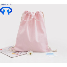 Custom drawstring pocket pure color leisure bag