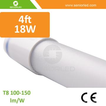 Luzes do tubo do diodo emissor de luz da eficiência elevada 4FT T8 com lúmen alto