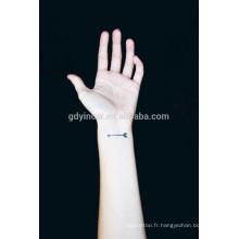 Autocollant coloré moderne de tatouage de poignet de conception de papier 3d