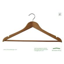 Cabide de madeira barato, cabide de madeira t-shirt, cabide de boa qualidade