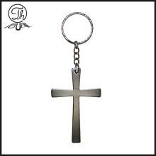 2017 new style Custom Silver Cross Keychain