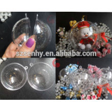 Top quality christmas transparent plastic balls