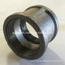 Banded Black Coupling with Ribs Malleable Iron Pipe Fitting