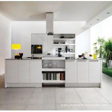 Gabinete de cozinha de revestimento de pintura de alto brilho pólo