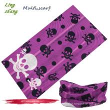2013 Factory Stock Design Outdoor poliéster microfibra mágica Crânio crânio bandana