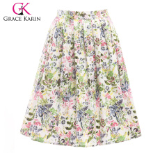19 Colors ! Grace Karin Colorful Cheap Occident Short Printed Cotton 50s Reto Skirt CL6294-18#