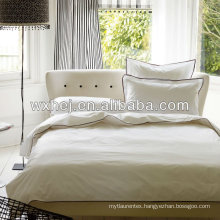 100% cotton 400TC sateen white 7 star hotel linen set