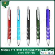 First A006 Shiny Dots Retractable Metal Pen For Promotion