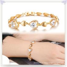 Bracelet en cuivre Accessoires de mode Bijoux en cristal (AB276)