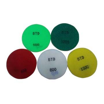 Diamond fiber floor dry polishing pad for stone and concrete
