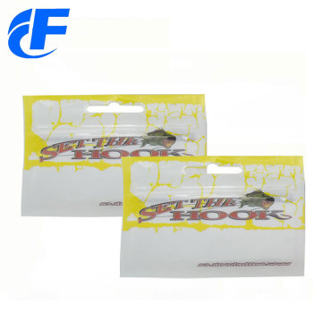 Customized Printing Ziplock Fishing Lure Bags With Window