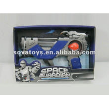 NEW DESIGN SPACE GUN,WITH SPEECH,LIGHT,ROTATION,BATTERIES NOT INCLUDED SPACE GUN TOY