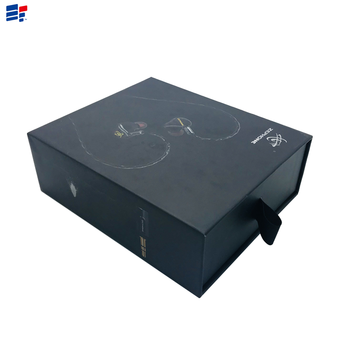 Professional Design for Drawer Paper Electronics Box Simple black earphone drawer gift box supply to Netherlands Importers