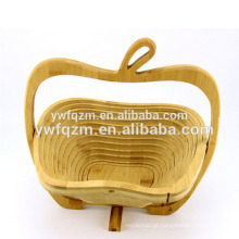 cesta de madeira pendurada dobrável da fruta