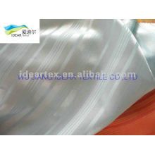 Satin polyester stripe tissu pour la robe de la Dame