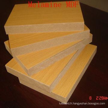 Plaine de panneau de fibre de densité moyenne ou mélamine