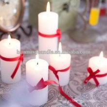 Huaming velas decoradas en diferentes colores / velas de pilar blanco al por mayor / velas de iglesia pilar blanco