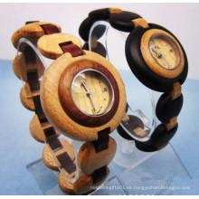 Reloj de pulsera de alta calidad Hlw088 OEM para hombre y mujer reloj de pulsera de bambú de bambú