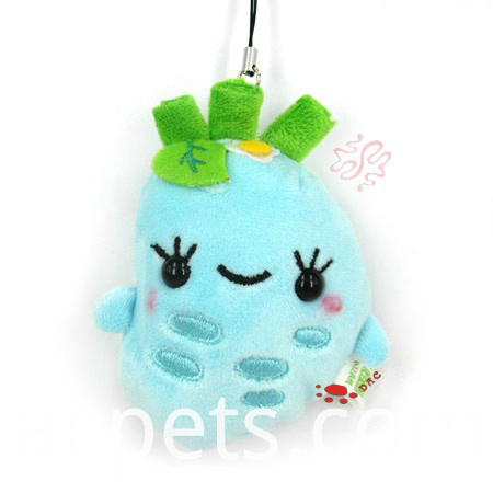 plush animal key ring