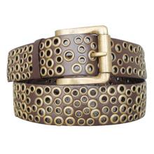 Eyelets Style Lady′s Fashion PU Belt (KY1575)