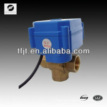 3 way electric automatic ball valve for water equipment DN12 DN20 DN25