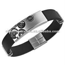 2012 Lastest fashion accessories men's laser bangle 316l stainless steel men's bracelet 19cm engraving bangle