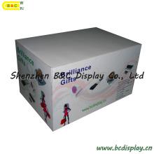 Pantalla de mostrador personalizada, pantalla de papel de escritorio, soporte de exhibición de cartón de caramelo, pantalla corrugada, pantalla POS, pantalla de cartón, pantalla de estante con niveles (B & C-C26)