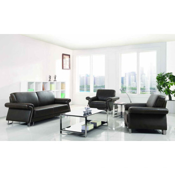 O sofá de couro popular do escritório preside o sofá da recepção (DX533)